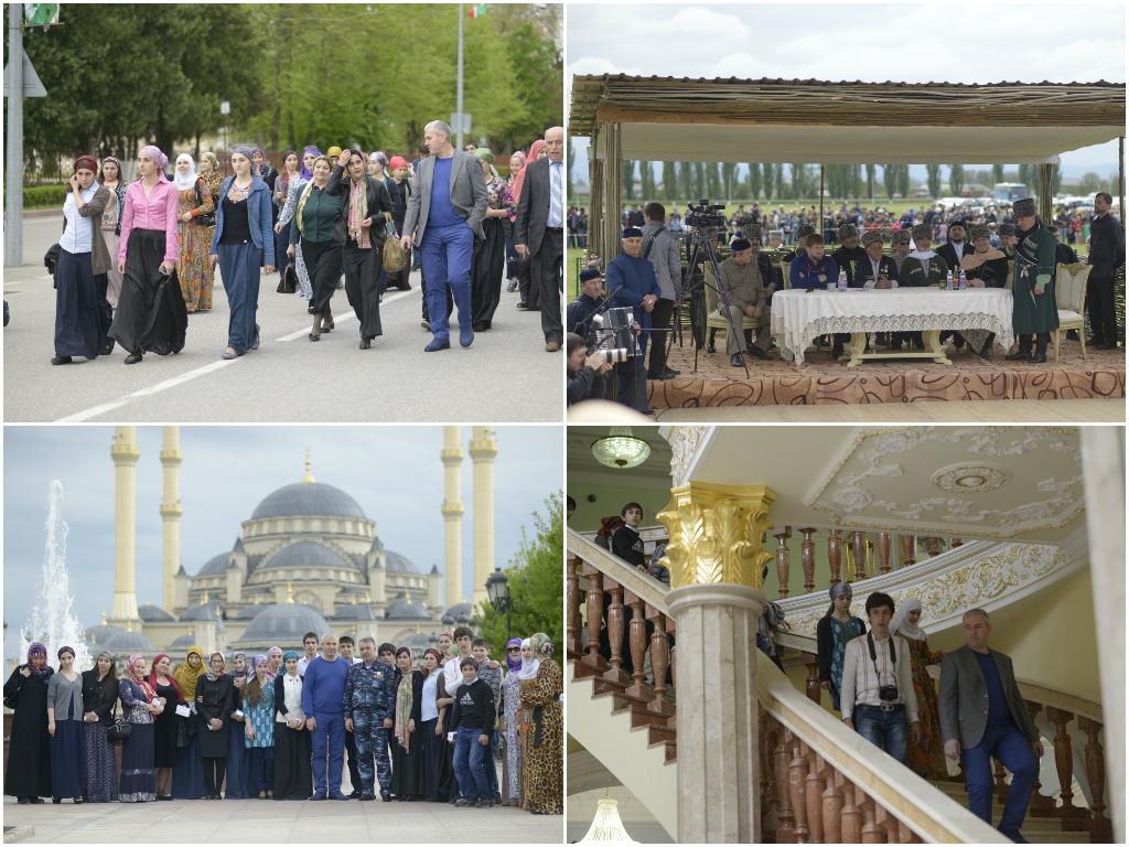 На дружеской чеченской земле