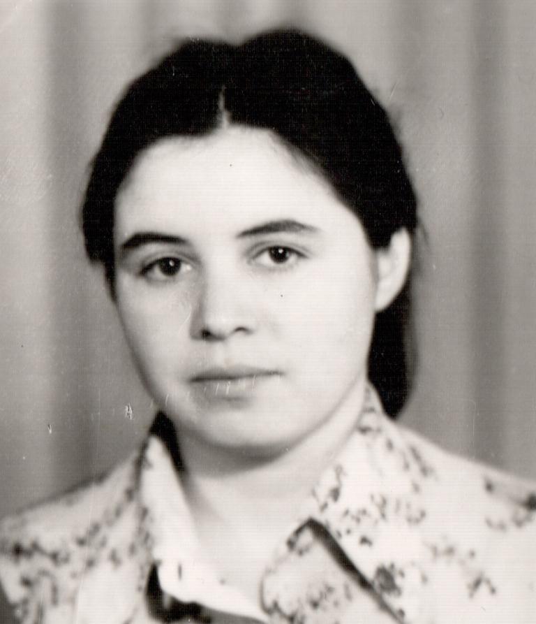 Диана Алиева  (Агаева),  библиотечный  работник, 1970-е: