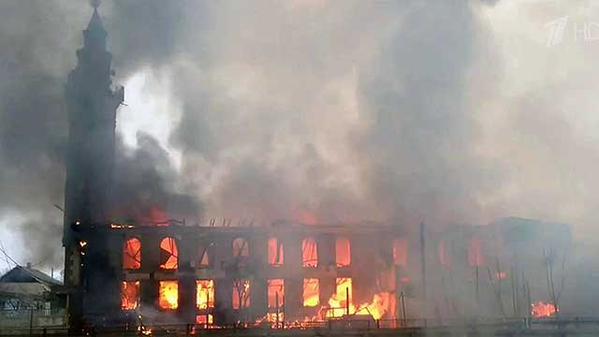Пожар в мечети