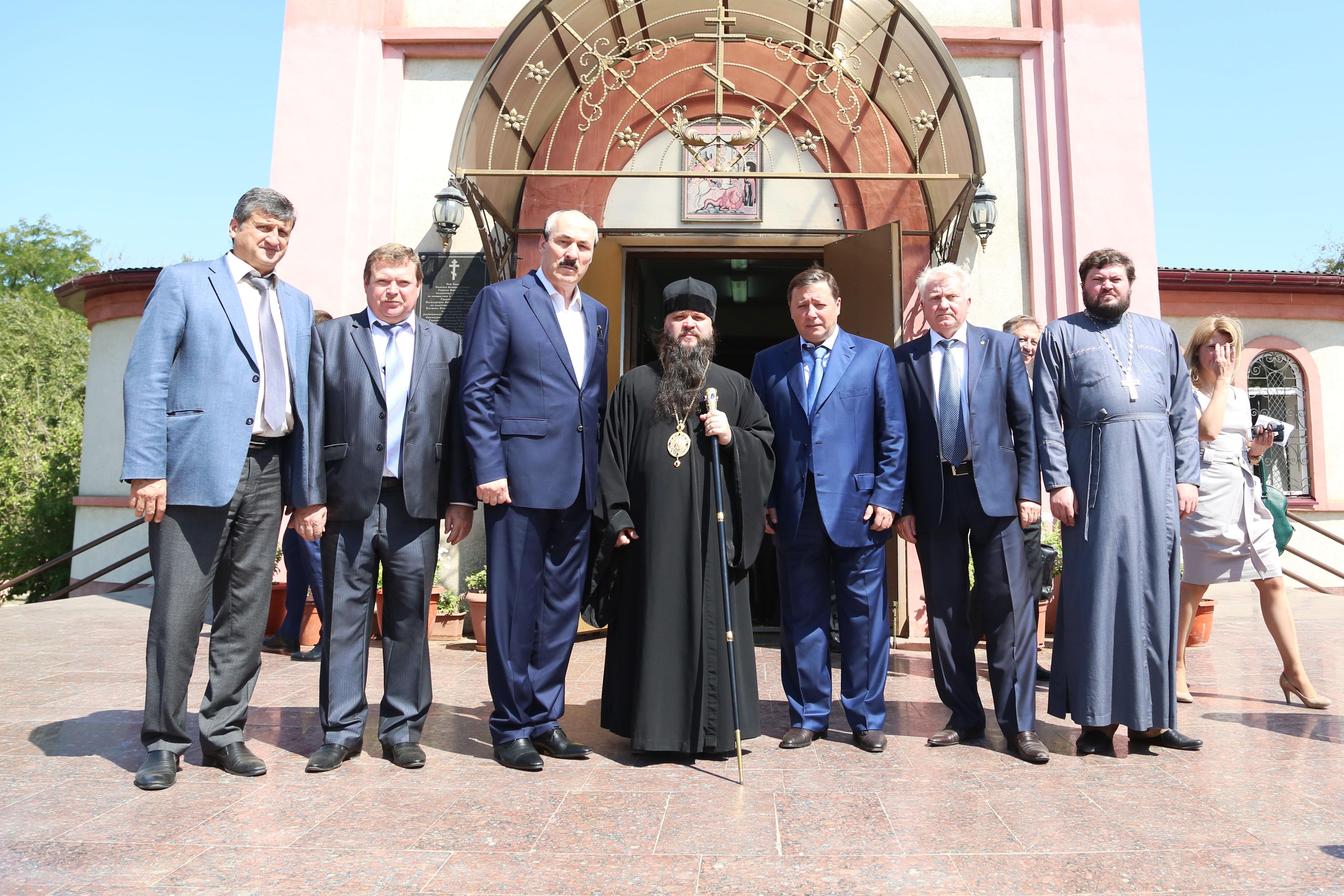Александр Хлопонин, Сергей Меликов и Рамазан Абдулатипов посетили г. Кизляр