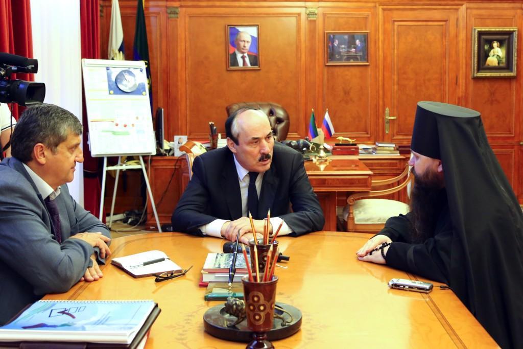 Глава Дагестана Рамазан Абдулатипов встретился с епископом Махачкалинским и Грозненским Варлаамом
