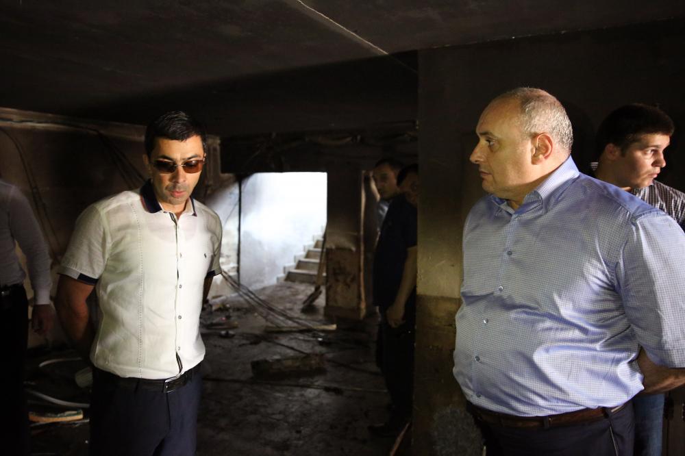 Мэр Махачкалы взял на особый контроль выяснение причин и обстоятельств взрыва в банкетном зале