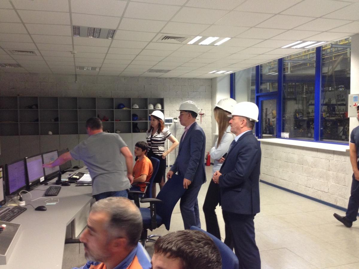 Гости из  Москвы посетили индустриальный парк «Тюбе»
