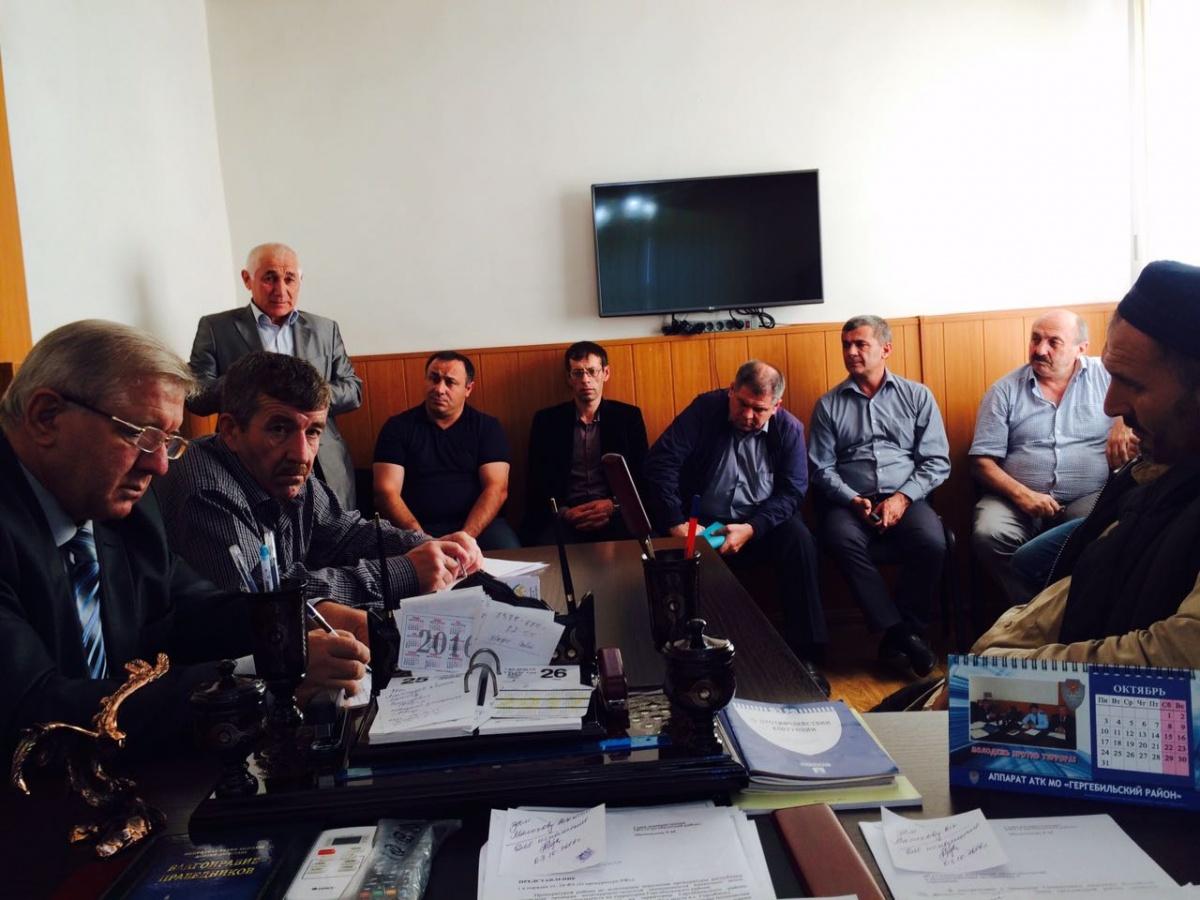 Заседание антинаркотической комиссии прошло в Гергебильском районе
