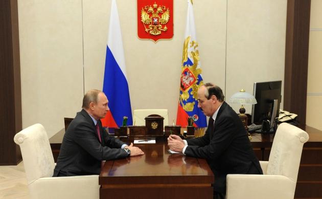 Состоялась рабочая встреча Президента РФ Владимира Путина с Главой РД Рамазаном Абдулатиповым
