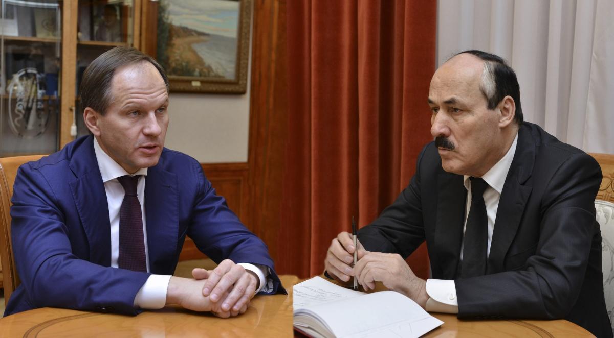 Рамазан Абдулатипов встретился с Министром РФ по делам Северного Кавказа Львом Кузнецовым