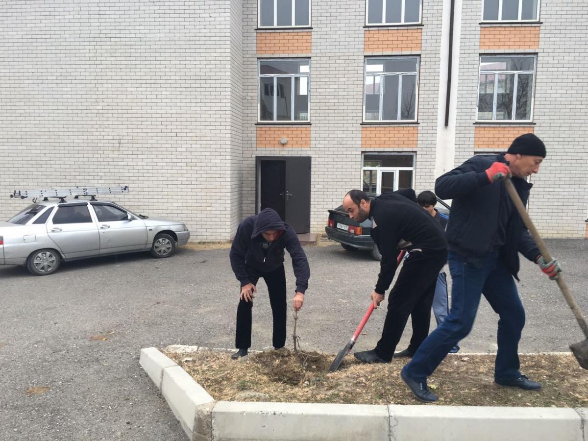 В Гергебильском районе провели субботники по очистке улиц, территорий и водоисточников