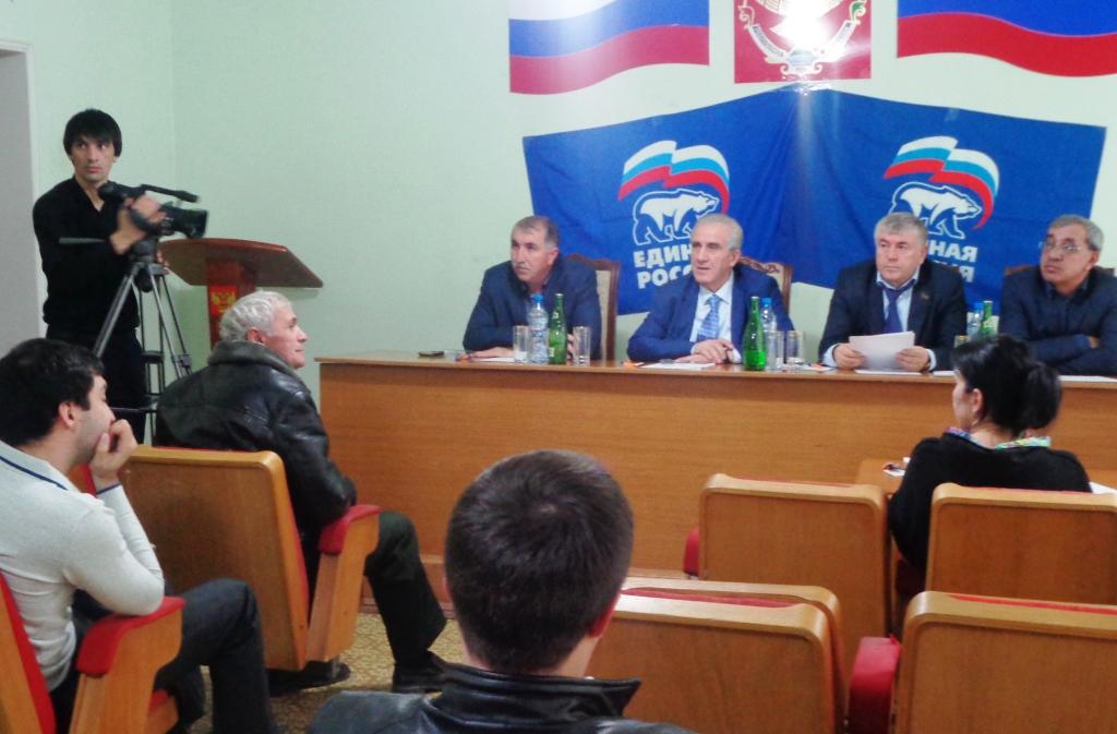 Прием граждан партии «Единая Россия» состоялся в Дагестанских Огнях
