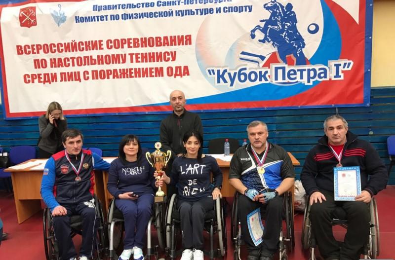 Дагестанцы в числе призеров на Кубке Росси по настольному теннису среди колясочников