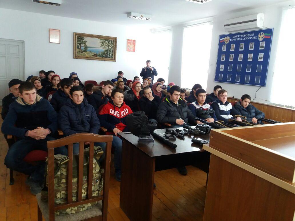 Школьники совершили экскурсию ОМВД РФ по Гергебильскому району