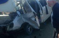 В Дагестане маршрутка с пассажирами врезалась в АЗС
