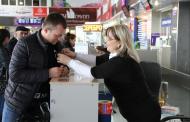 В Дагестанском аэропорту стартовала Всероссийская акция «Георгиевская ленточка»