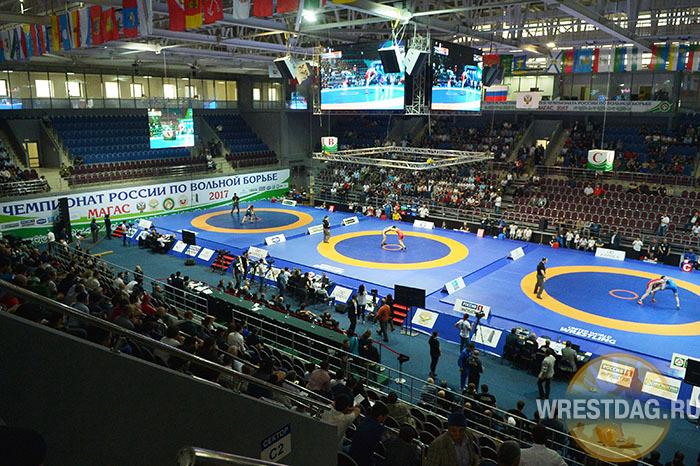 Болельщики из Дагестана и Осетии повздорили на чемпионате России (видео)