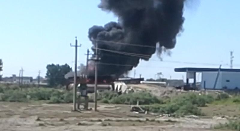 В Тарумовском районе взорвалась АЗС
