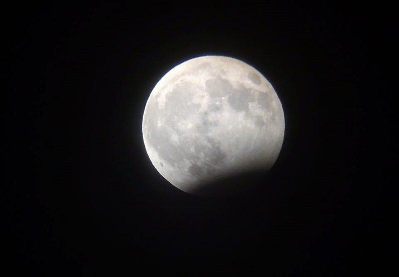 Лунное затмение. Вид из Махачкалы