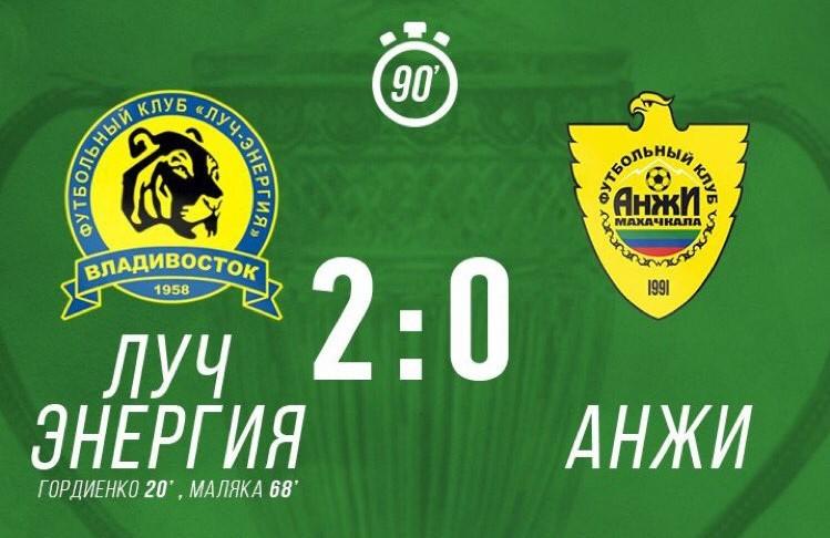 «Анжи» выбыл из розыгрыша Кубка России