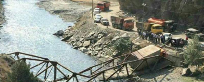 В Тляратинском районе рухнул мост