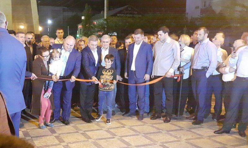 На бывшем проспекте Кирова в Махачкале открыли сквер его имени