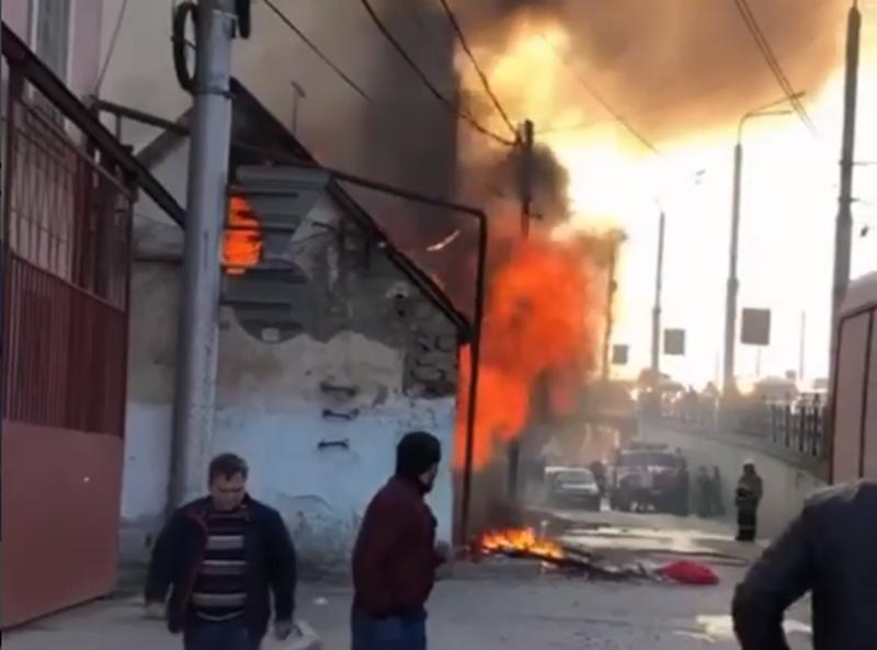 В Махачкале сгорел частный дом