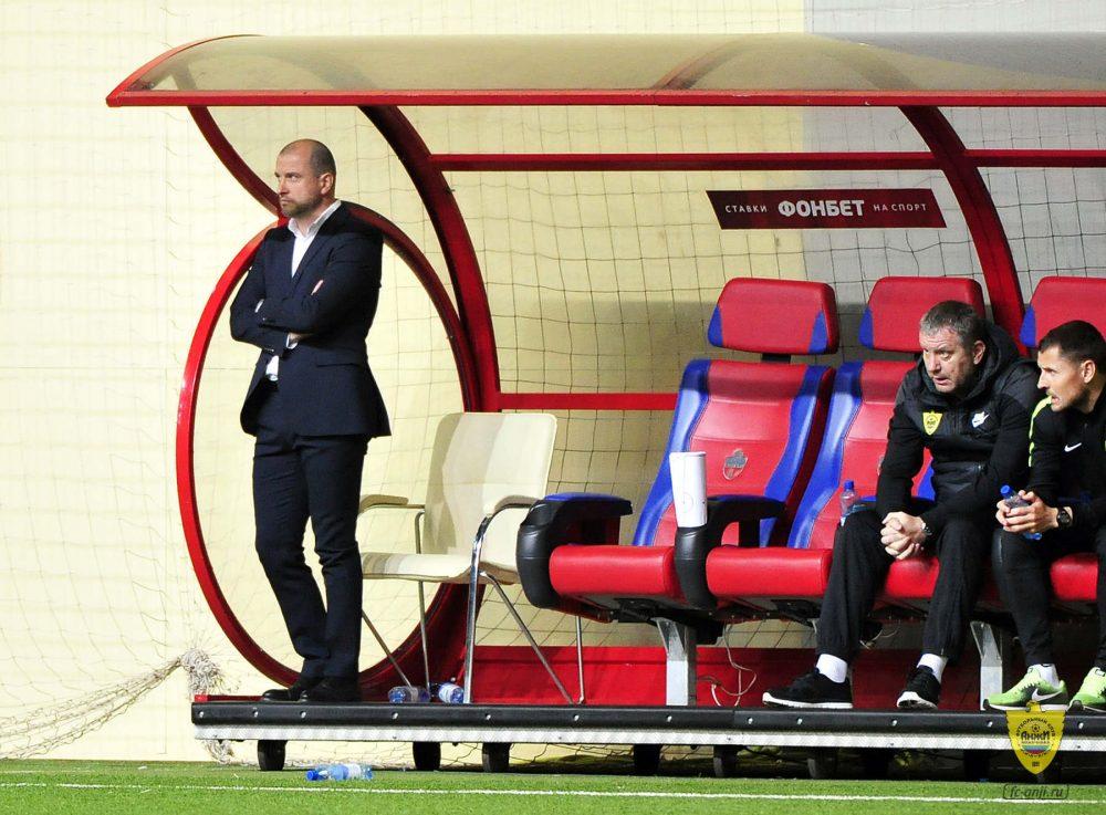 Главный тренер «Анжи» назвал игру с «Енисеем» провальной