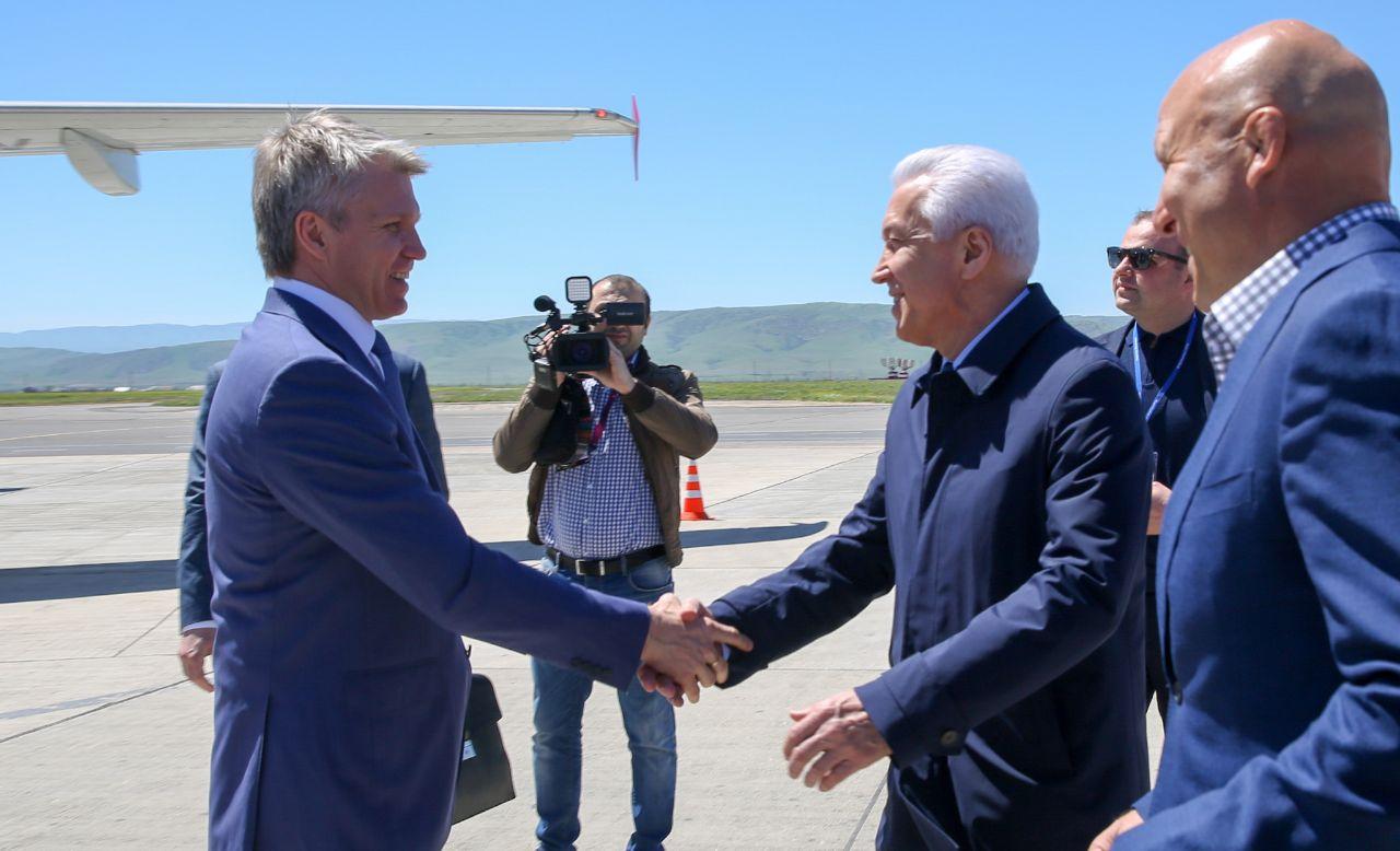 Министр спорта России прибыл в Махачкалу