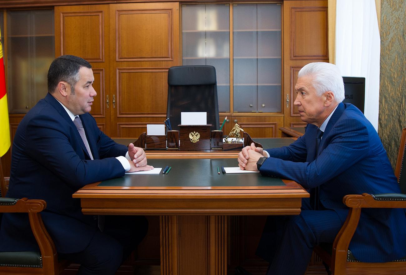 Владимир Васильев встретился с губернатором Тверской области