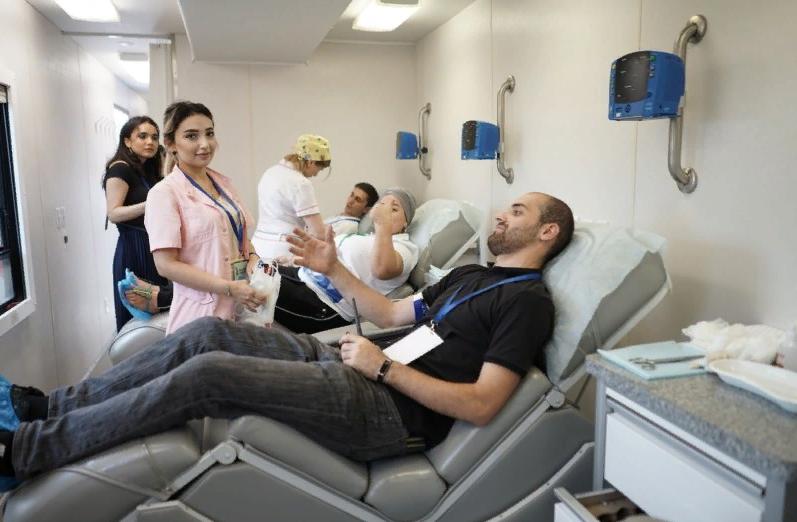 На форуме «Каспий» прошла донорская акция «Мы с тобой одной крови»