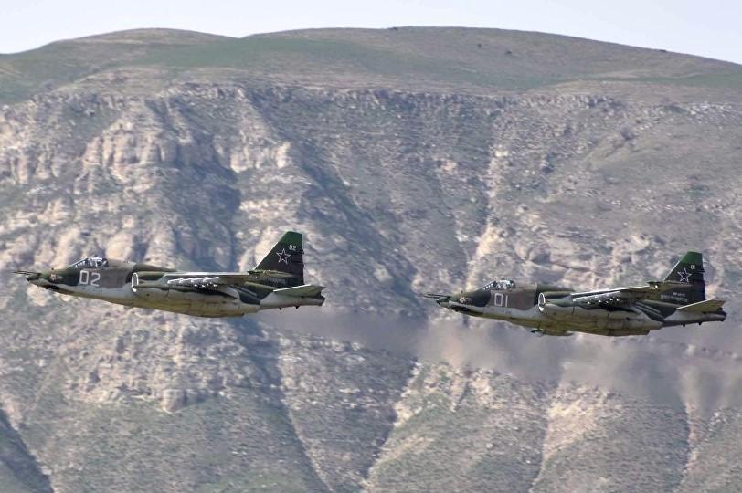 Военные летчики уничтожили колонну условного противника на учениях в Дагестане