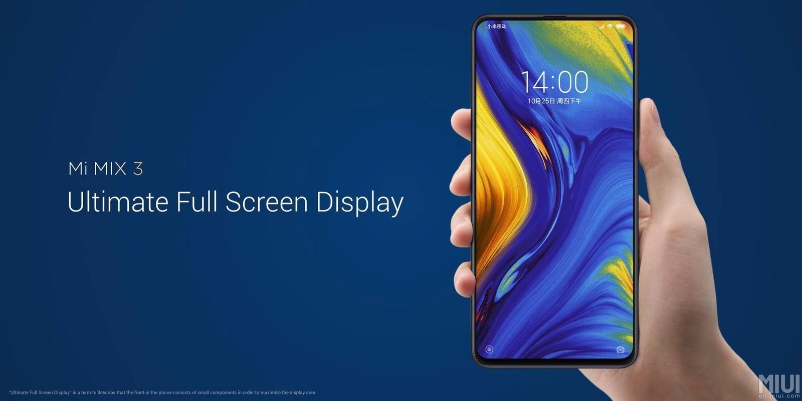 Xiaomi представила новый смартфон Mi MIX 3
