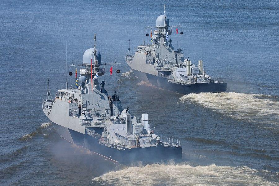 В Дагестан прибыли корабли Каспийской флотилии