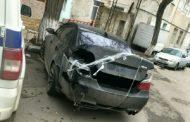 В Махачкале задержан автохулиган, протаранивший полицейский УАЗ