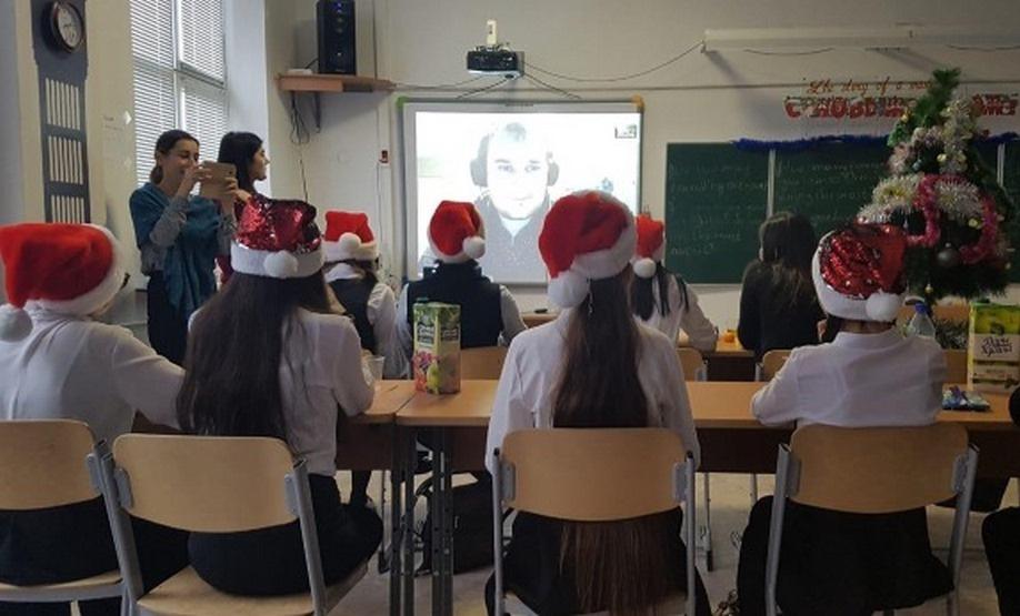 Школьники из Дагестана и Австралии обсудили Новый год