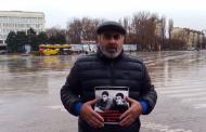 Муртазаали Гасангусенов провел одиночный пикет в центре Махачкалы