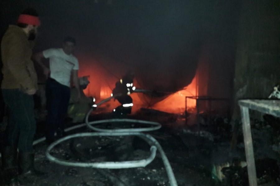 На рынке в Хасавюрте произошел пожар