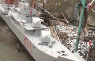 Житель Хасавюрта собрал макет сторожевого корабля