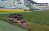 В ФК «Анжи» опровергли информацию о том, что газон на его домашней арене снимают за долги