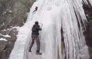 В Хунзахском районе проходит чемпионат по ледолазанию