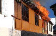 В селе Гениятль горит школа
