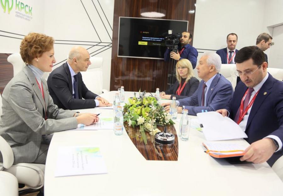 Владимир Васильев и Антон Силуанов обсудили социально-экономическое развитие Дагестана за 2018 год