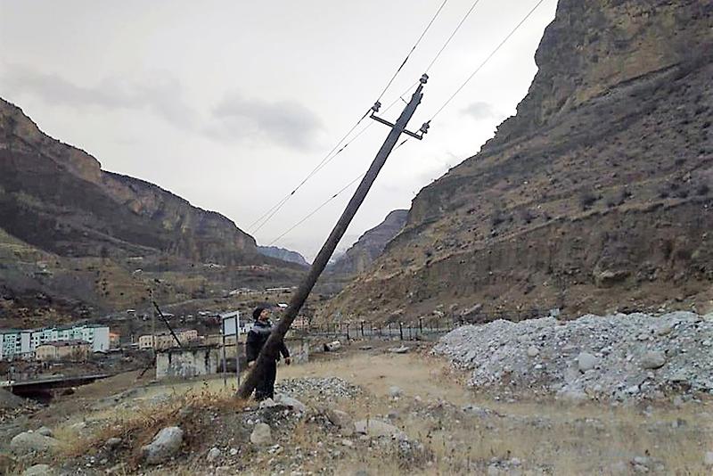 Число обесточенных населенных пунктов в Дагестане увеличилось до 107