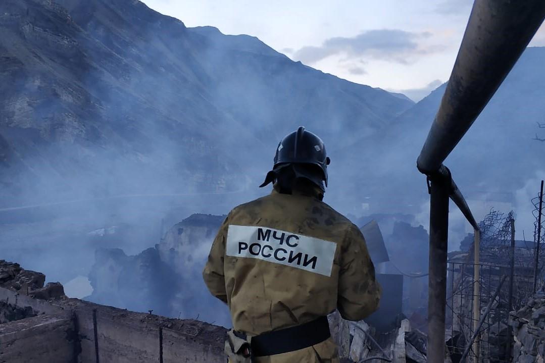 Пожар в Тисси-Ахитли ликвидирован. Сгорело 11 домов