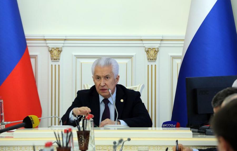 Владимир Васильев обсудил добычу природных ископаемых в Дагестане