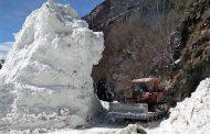 Дорога в Тляратинском районе, перекрытая лавиной, расчищена