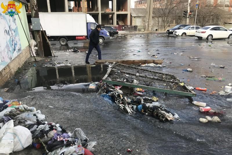 Мэрия показала результаты очистки ливневки в Махачкале