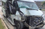 В Махачкале столкнулись две пассажирские «Газели»