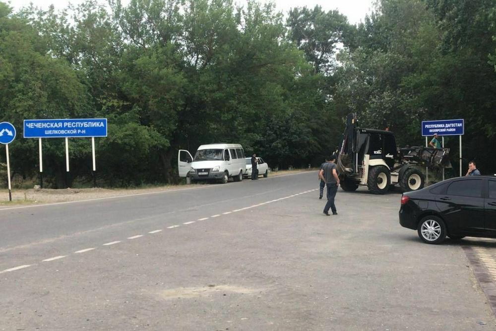 Власти Дагестана установили «зеркально» свои знаки на участке границы с Чечней
