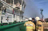 Два человека погибли при хлопке газовоздушной смеси на танкере в порту Махачкалы