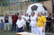 Хизри Шихсаидов принял участие в футбольном матче ветеранов сборных Махачкалы и Буйнакска