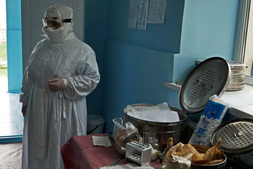 Учения по эвакуации пациентки с холерой прошли в Акушинском районе