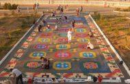 В Каспийске волонтеры отреставрировали самый большой стрит-ковер